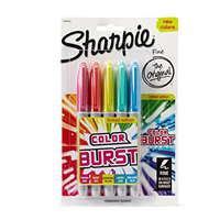 Pack of 5 Colored Sharpie Markers